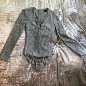 On twelfth by Cynthia Vincent grey body suit